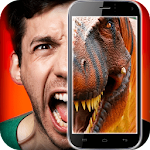 Dinosaur in the face simulator Icon