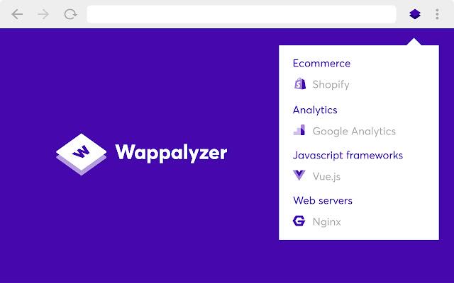 Chrome with Wappalyzer