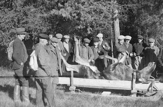 Photo: Jakt vid Västantorp omkr. 1940