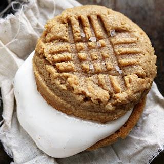 Marshmallow Peanut Butter Sandwich Cookies.