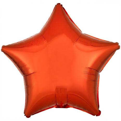 Folieballong, stjärna metallic orange 48 cm
