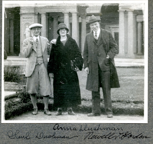 Saul Dushman, Anna Dushman, Newell Gordon., from scrapbook owned by Willis Whitney