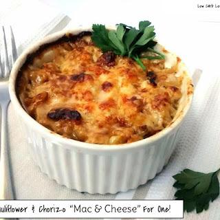 "Cauliflower & Chorizo ""Mac n' Cheese"" For One"
