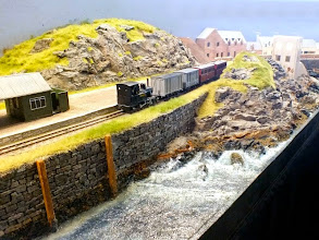 Photo: 009 A slightly longer view of the pier station at Isle Ornsay with Staffa on the mixed train again. Note the very impressive rock features and the surf. I can't remember seeing better .