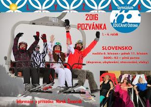 Photo: Pozvánka na lyžování na Slovensku v termínu od neděle 6. března do pátku 11. března 2016.