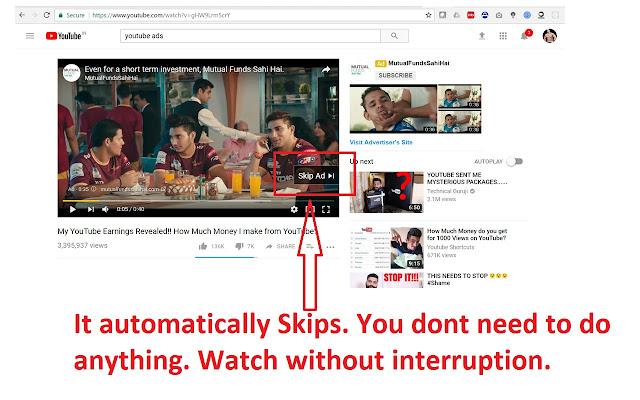 Youtube Auto Ad Block & Auto Ad Skip.