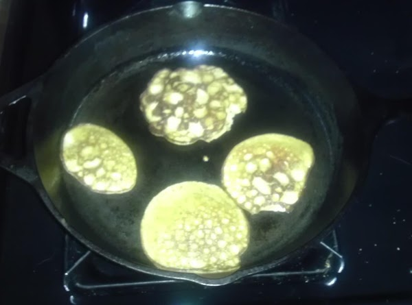 Once golden brown, add to plate, and add what you like to it. ...