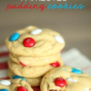 Patriotic M&M Pudding Cookies