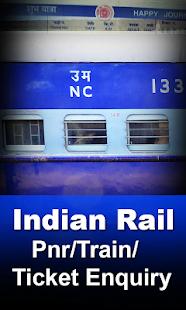 Indian rail pnr/train/ticket inquiry - náhled