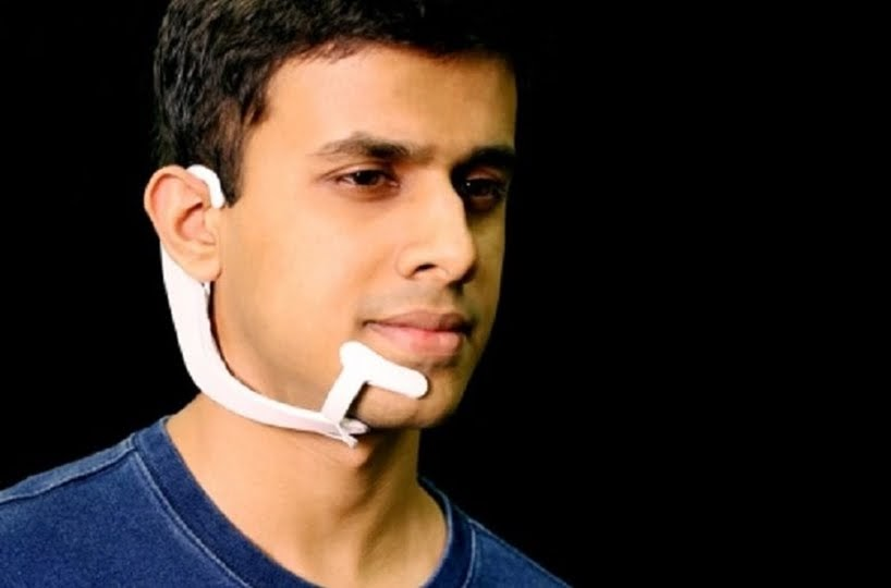 MIT Media Lab ha desarrollado un dispositivo para comunicarse sin abrir la boca