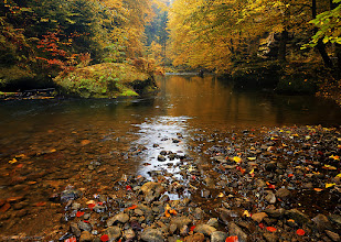 """Photo: Autumn atmosphere in Polenztal, """"Saxony Switzerland"""" national park, Germany. Archive from october 2008. I hope to take this year several beautiful pictures from this area again ;)"""