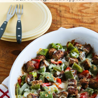 Low-Carb No Egg Breakfast Bake with Turkey Breakfast Sausage and Peppers Recipe