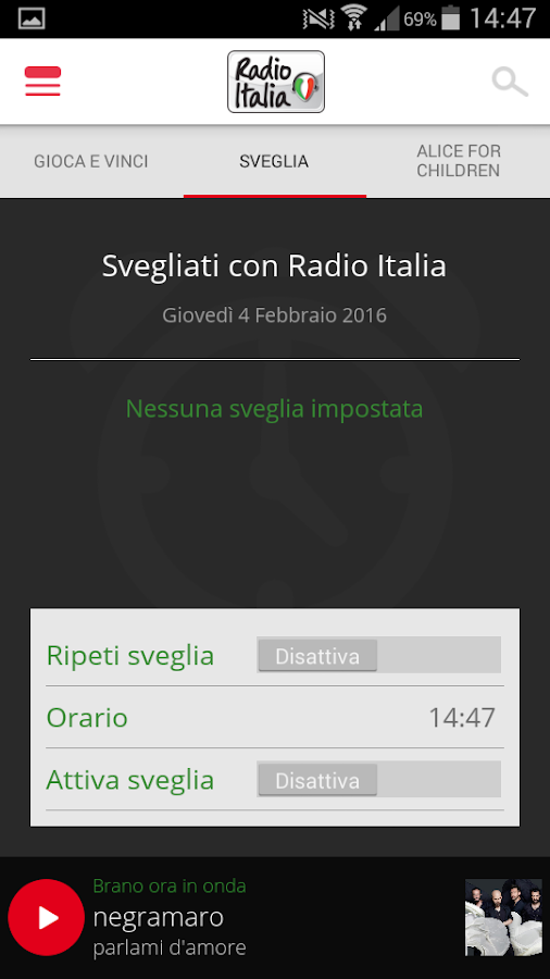 Radio Italia- screenshot