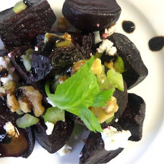 Sweet and Healthy Roasted Beet Salad.