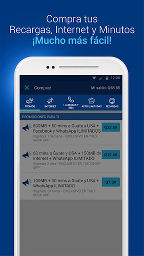 Tigo Shop: Consulta y compra Paquetigos prepago 2.0.3 screenshots 4