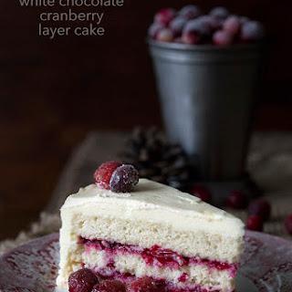 Cranberry White Chocolate Layer Cake