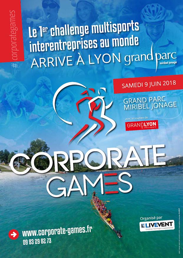 Affiche Corporate Games de Lyon 2018
