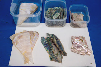 Photo: mother-of-pearl, white, reddish, and jade colors