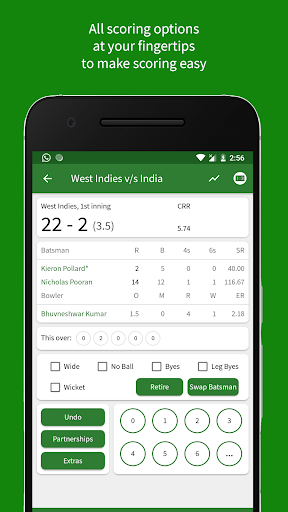 Cricket Scorer 2.7.0 screenshots 2