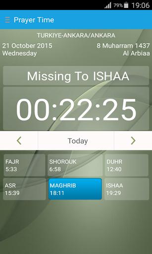 Prayer Time Qibla Direction
