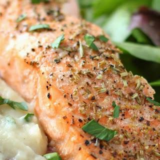 Garlic Oil & Rosemary Roasted Salmon Recipe