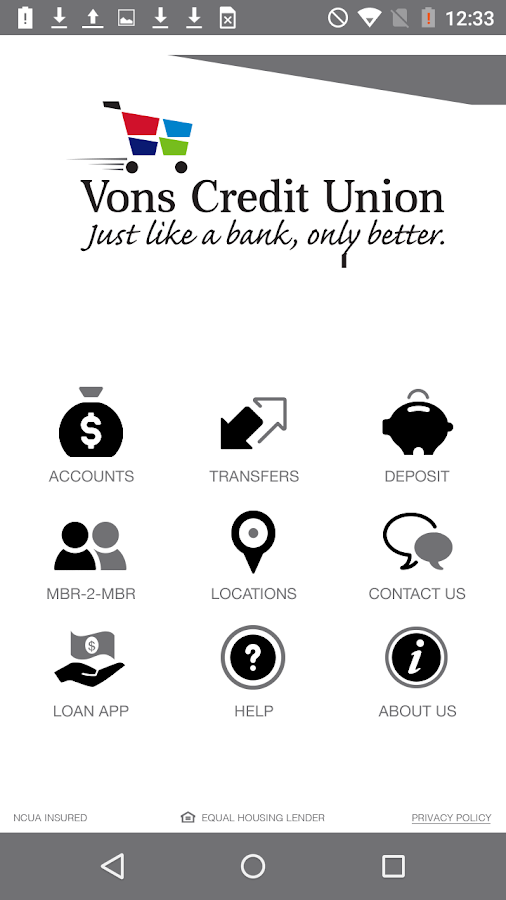 Vons Credit Union for Mobile- screenshot