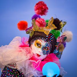 Venice Masquerade Character by Jan Murphy - People Musicians & Entertainers ( venice. carnival, mask )