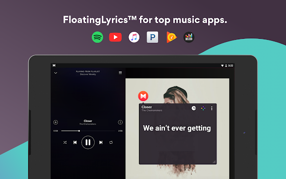 Musixmatch Music Player Letras APK screenshot thumbnail 9