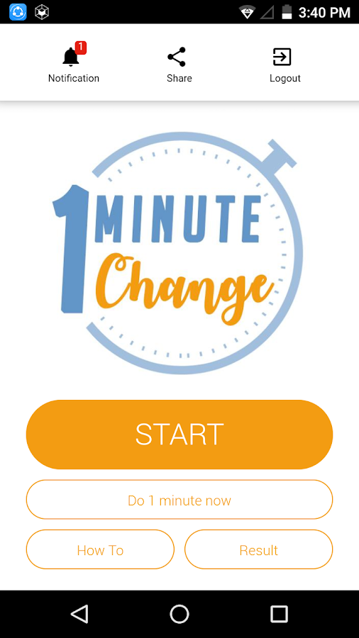 One Minute Change- screenshot