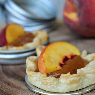 Mini Glazed Peach Pies.