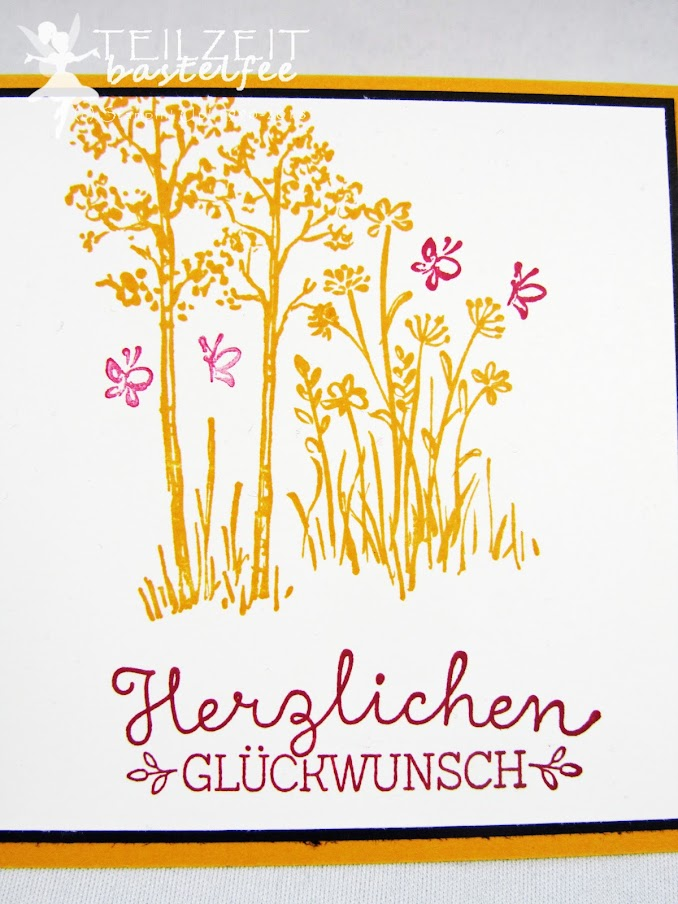 Stampin' Up! - Inkspire_me #387, Sketch Challenge, Color Challenge, Suite Sayings, Wunderbare Worte, birthday, Geburtstagskarte, In the Meadow