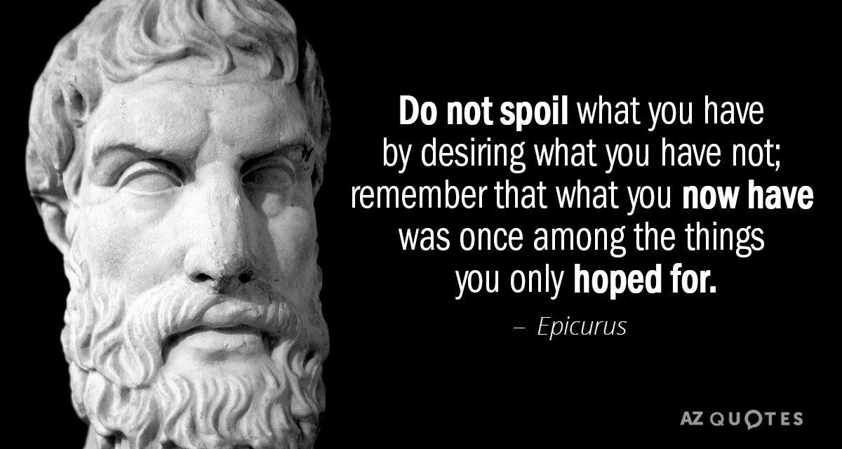 TOP 25 QUOTES BY EPICURUS (of 172) | A-Z Quotes