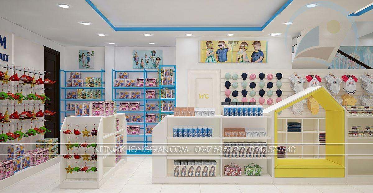 thiết kế siêu thị mẹ và bé hài hòa
