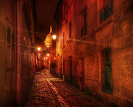 Photo: Walking the Streets of France After Dark  This perfect little European medieval street was in Lyon, if I am not mistaken.  Sometimes I forget here in my old age.  There's a 10% chance it is in Paris. There's a long path from click to final image and my memory fades betwixt.  from the blog at www.stuckincustoms.com