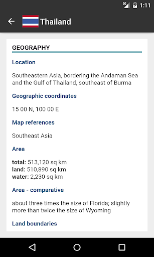 World Factbook & Statistics 2020 screenshot