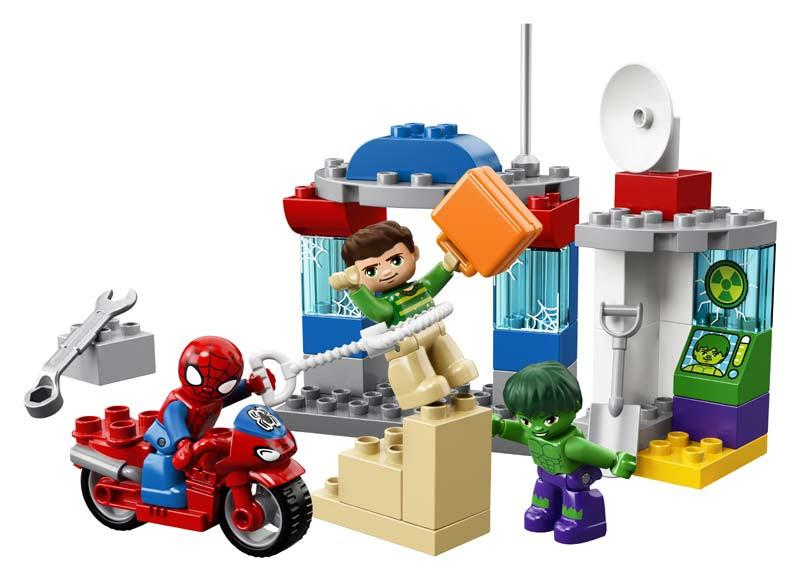 Contenido de Lego® 10876 Aventuras de Spider-Man y Hulk