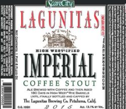 Logo of Lagunitas ScareCity #3: High West-Ified Imperial Stout