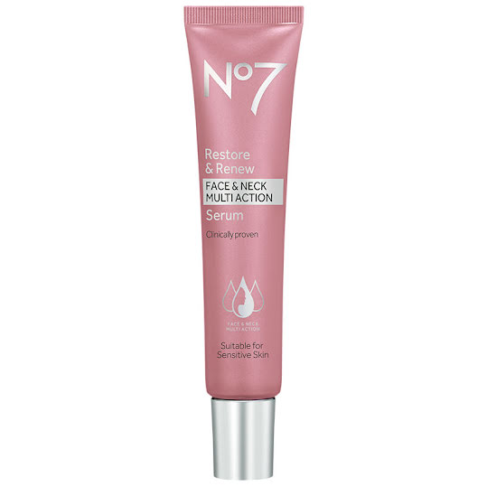 No7 Restore & Renew Face & Neck Multi Action Serum 30 ml