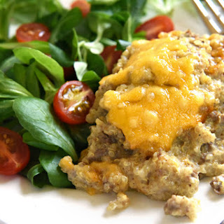 Cheesy Beef & Quinoa Bake