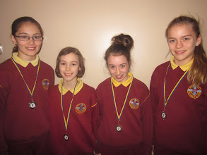 Photo: Under 12's front crawl relay team who came third
