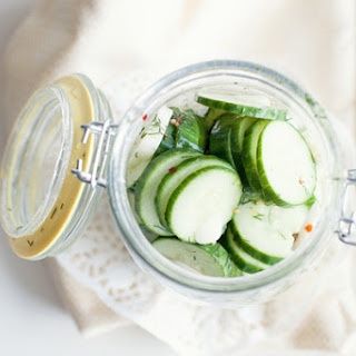Pick a Peck of Homemade Sweet and Spicy English Cucumber Pickles