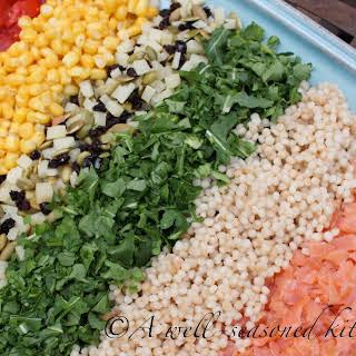 Smoked Salmon Chopped Salad with Pesto-Buttermilk Dressing.
