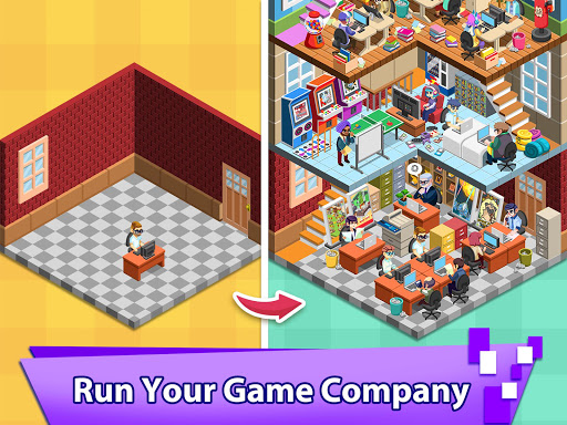 Video Game Tycoon - Idle Clicker & Tap Inc Game android2mod screenshots 1