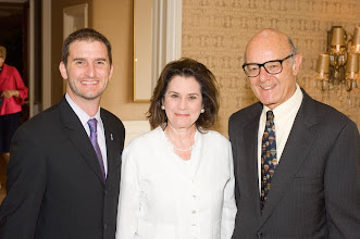 Photo: Seth Brysk, Energy Security Committee Co-Chair Nadine Gerson, and Dick Volpert