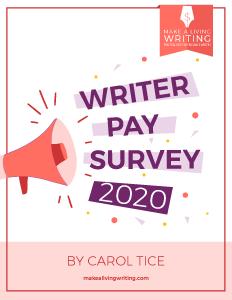 Writer Pay Survey 2020