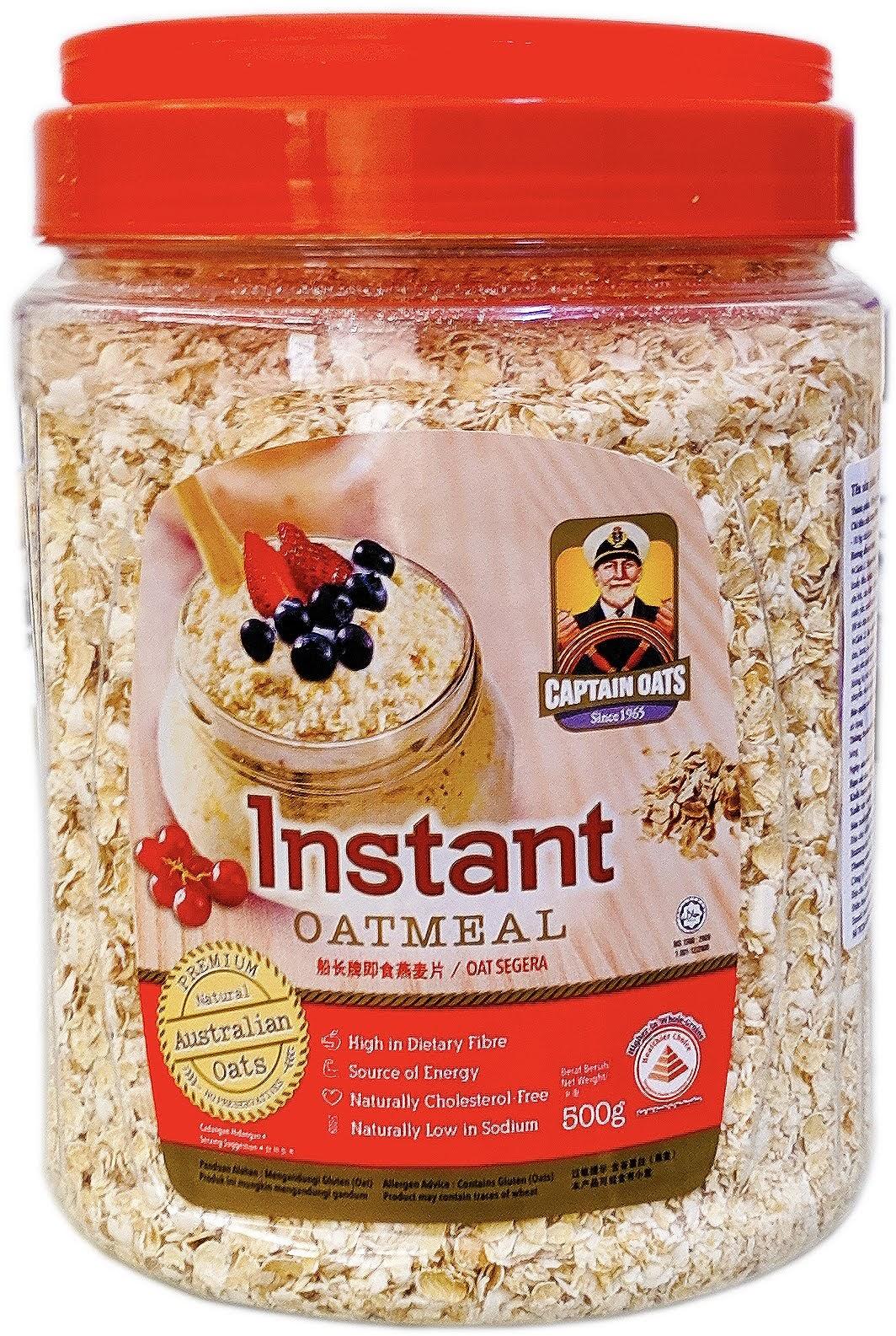 yến mạch úc nguyên chất captain oatmeal 500g Yến mạch Úc nguyên chất Captain Instant Oatmeal 500 g