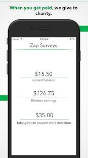 Zap Surveys - náhled