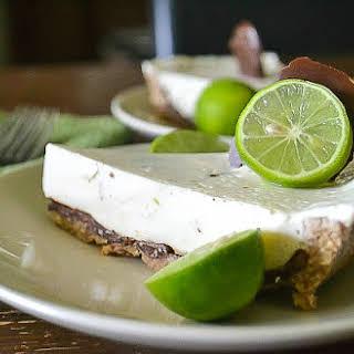 Dairy-free Chocolate-coated Key Lime Coconut Cream Pie.