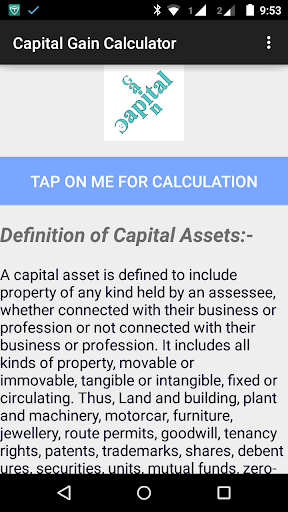 Capital Gain Calculator