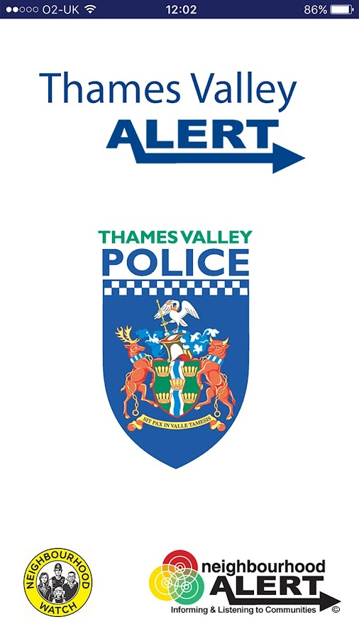 Thames Valley Police Alert- screenshot